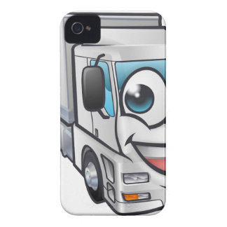 Cartoon Truck Lorry Transport Mascot Character iPhone 4 Cover