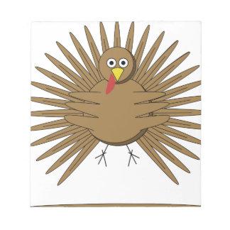 Cartoon Turkey Notepad