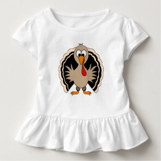 Cartoon Turkey Toddler T-shirt