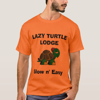 cartoon-turtle-clipart, LAZY TURTLE LODGE, Slow... T-Shirt