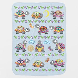 cartoon turtles swaddle blankets