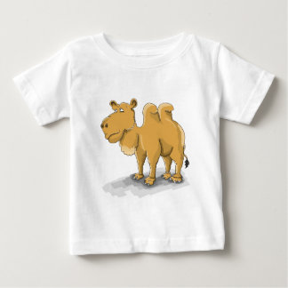 Cartoon Two hump camel walking in the desert Baby T-Shirt