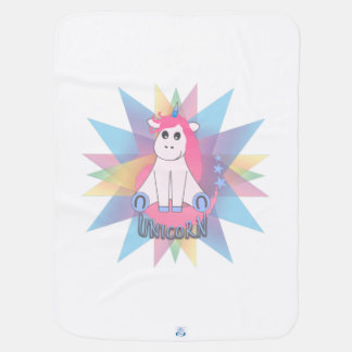 Cartoon Unicorn Baby Blankets
