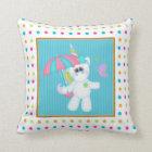 cartoon Unicorn kids room pillow