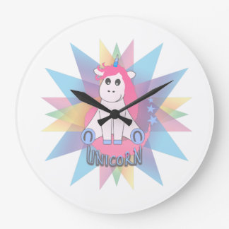 Cartoon Unicorn Large Clock