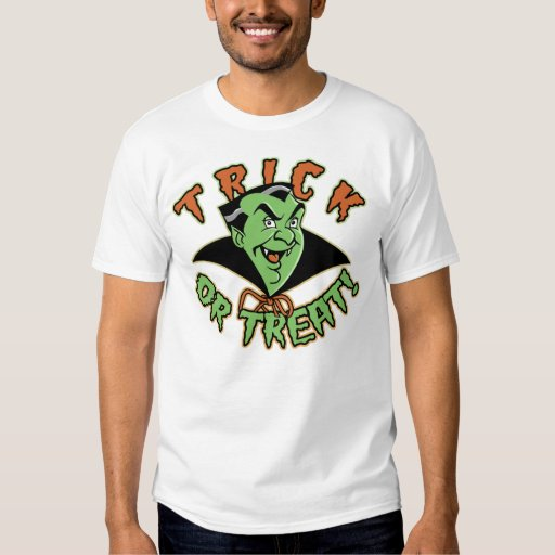 Cartoon Vampire Black T-Shirt