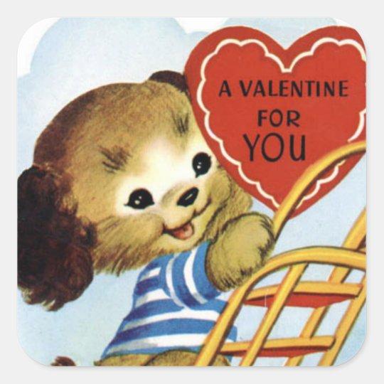Cartoon Vintage Art Valentines stickers