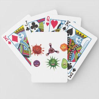 Cartoon Viruses Bicycle Playing Cards