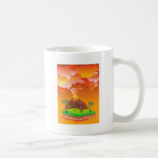 Cartoon Volcano Eruption 2 Coffee Mug