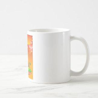Cartoon Volcano Eruption 2 Coffee Mug