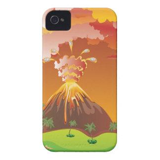 Cartoon Volcano Eruption 2 iPhone 4 Case-Mate Cases