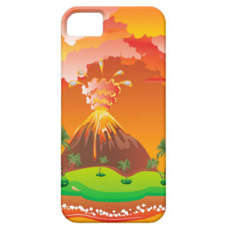 Cartoon Volcano Eruption 2 iPhone 5 Case