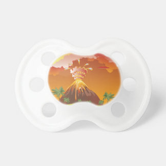 Cartoon Volcano Eruption 2 Pacifier