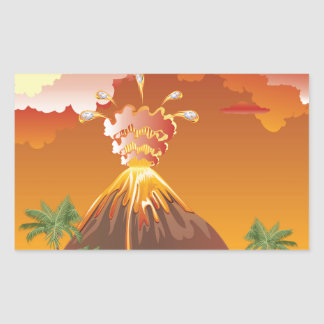 Cartoon Volcano Eruption 2 Sticker