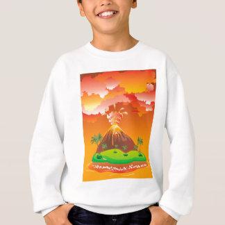 Cartoon Volcano Eruption 2 Sweatshirt