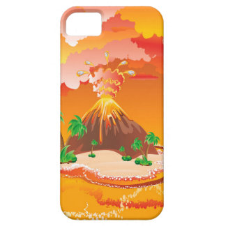 Cartoon Volcano Eruption Case For The iPhone 5