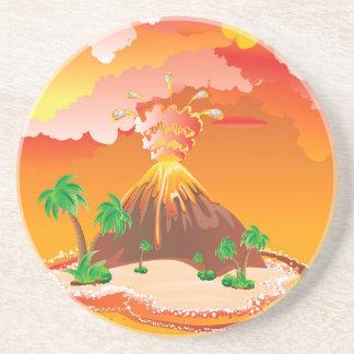 Cartoon Volcano Eruption Coaster