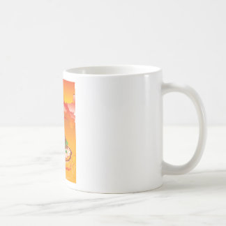 Cartoon Volcano Eruption Coffee Mug