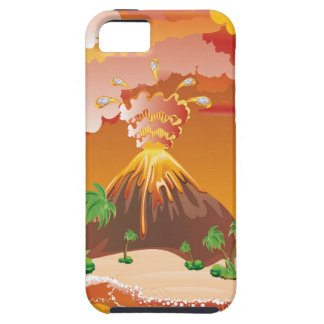 Cartoon Volcano Eruption iPhone 5 Case