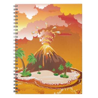 Cartoon Volcano Eruption Notebook