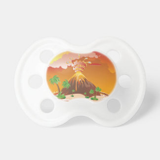 Cartoon Volcano Eruption Pacifier
