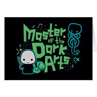 Cartoon Voldemort - Master of the Dark Arts Card