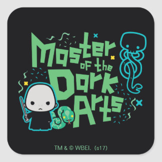 Cartoon Voldemort - Master of the Dark Arts Square Sticker
