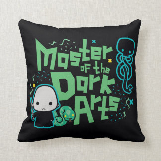 Cartoon Voldemort - Master of the Dark Arts Throw Pillow