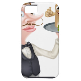 Cartoon Waiter and Thumbs Up Kebab iPhone 5 Cover