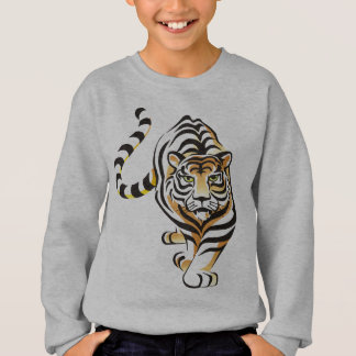 Cartoon Walking Tiger Kid's Sweatshirt
