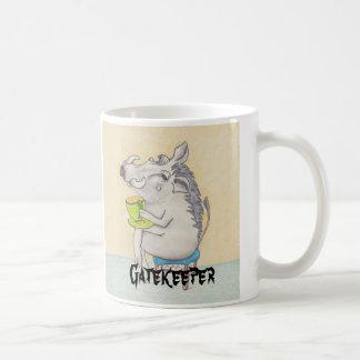 "Cartoon Warthog ""Gatekeeper"" Coffee Mug"