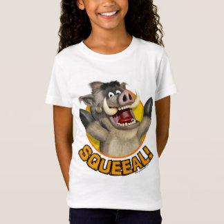 Cartoon Warthog T-Shirt on White Material