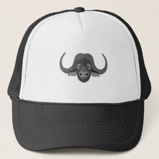 Cartoon Water Buffalo Trucker Hat