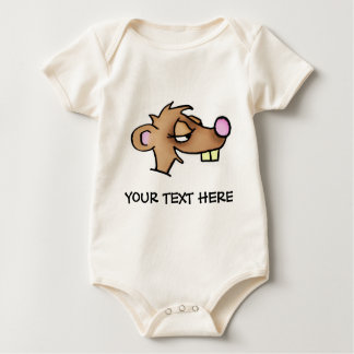 Cartoon Weasel Baby Bodysuit