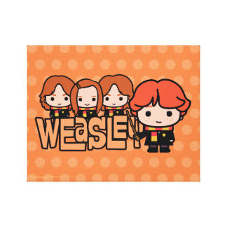Cartoon Weasley Siblilings Graphic Canvas Print