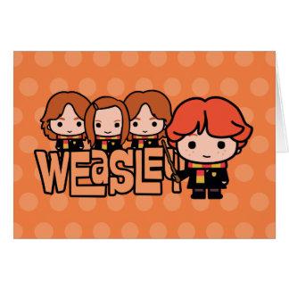 Cartoon Weasley Siblilings Graphic Card