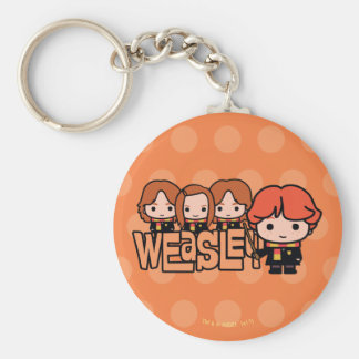 Cartoon Weasley Siblilings Graphic Keychain