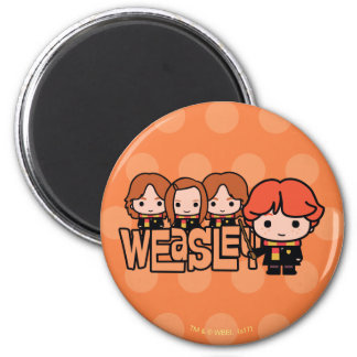 Cartoon Weasley Siblilings Graphic Magnet