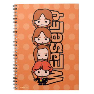 Cartoon Weasley Siblilings Graphic Notebooks