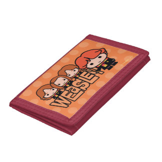 Cartoon Weasley Siblilings Graphic Tri-fold Wallets