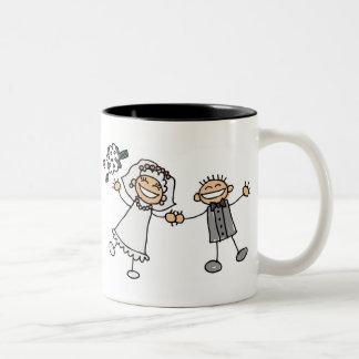 Cartoon Wedding Two-Tone Coffee Mug