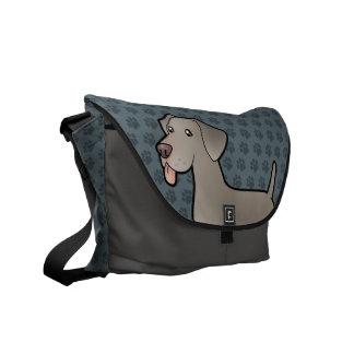 Cartoon Weimaraner Courier Bags