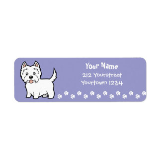 Cartoon West Highland White Terrier