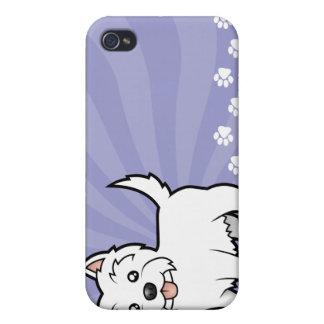 Cartoon West Highland White Terrier iPhone 4 Case
