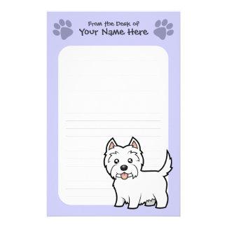 Cartoon West Highland White Terrier Stationery