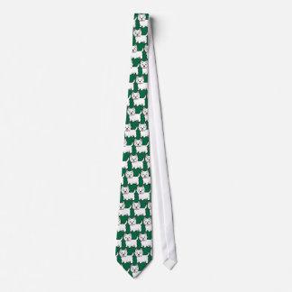 Cartoon West Highland White Terrier Tie