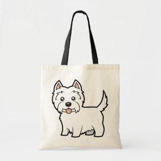 Cartoon West Highland White Terrier Tote Bag