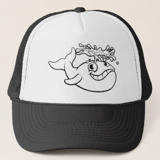 Cartoon Whale Trucker Hat