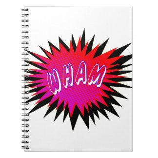 Cartoon Wham Notebooks