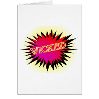 Cartoon Wicked Card